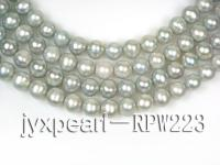 wholesale & Retail A-grade 10-11mm Silver round pearl strings RPW223