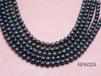 Wholesale AA-grade 10-11mm Black Round Freshwater Pearl String RPW224
