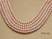 Wholesale High-quality 8x11mm pink Flat Pearl String FPW124