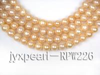 wholesale & Retail AAA-grade 12-13mm pink round pearl RPW226