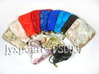 Delicate Silk Jewelry Pouch With Beautiful Patterns PS003