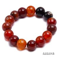 14mm multicolor round agate bracelet AGB013