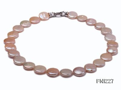 Classic16-17mm Pink Button Freshwater Pearl Necklace FNI227 Image 1