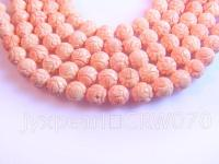 18mm carved pink coral strings CRW070