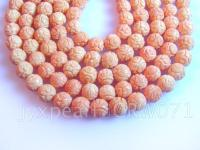 16mm carved pink coral strings CRW071