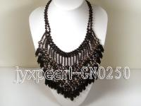 Extraordinary Black Agate & Black Pearl Handmade Necklace GNO250
