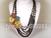 Colorful Natural Agate Necklace GNO262