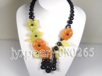 Extraordinary colorful natural agate necklace GNO265