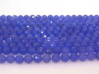 Wholesale 10mm Blue Round Faceted Gemstone String GOG190
