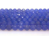 Wholesale 12mm Blue Round Faceted Gemstone String GOG191
