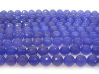 Wholesale 14mm Blue Round Faceted Gemstone String GOG192