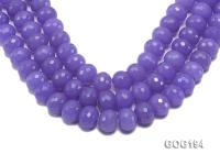 Wholesale 18mm Blue Round Faceted Gemstone String GOG194