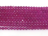 Wholesale 6mm Round Faceted Rose Stone String GOG196