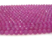 Wholesale 8mm Round Faceted Rose Stone String GOG197