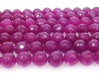 Wholesale 12mm Round Faceted Rose Stone String GOG199