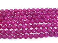 Wholesale 16mm Round Faceted Rose Stone String GOG200