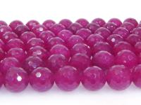 Wholesale 18mm Round Faceted Rose Stone String GOG201