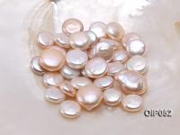Wholesale AAA-grade 16x26mm White/Pink/Lavender Button-shaped Pearl  OIP052