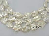 Irregular Pearl Wholesale---Big and Unique 20x30mm Baroque Pearls with Wholesale Price OIP061