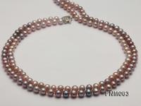 High Quality Round Freshwater Pearl Necklace  FNM063