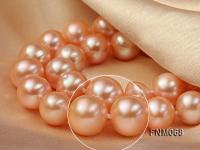 10-11mm AAA High Quality Round Pearl Necklace with Stering Silver Clasp FNM068