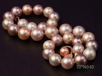 Classic 14-17mm Multi-color Round Edison Pearl Necklace RPN040