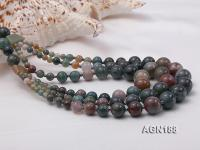 Beautiful Three-row Moss Agate Opera Necklace  AGN188