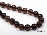10mm Round Smoky Quartz Beads Necklace SMN029