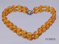 11x12mm Oval Faceted Citrine Beads Necklace CCN025