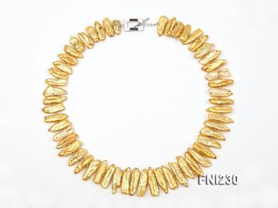 Classic 7x20mm Yellow Freshwater Pearl Sticks Necklace FNI230 Image 4