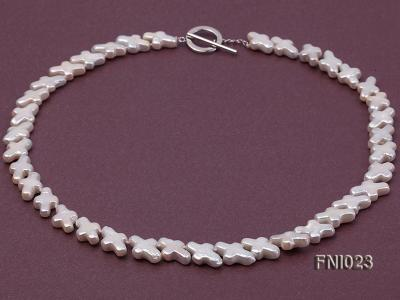 Classic 10x15.5mm White Cross-shaped Freshwater Pearl Necklace FNI023 Image 1