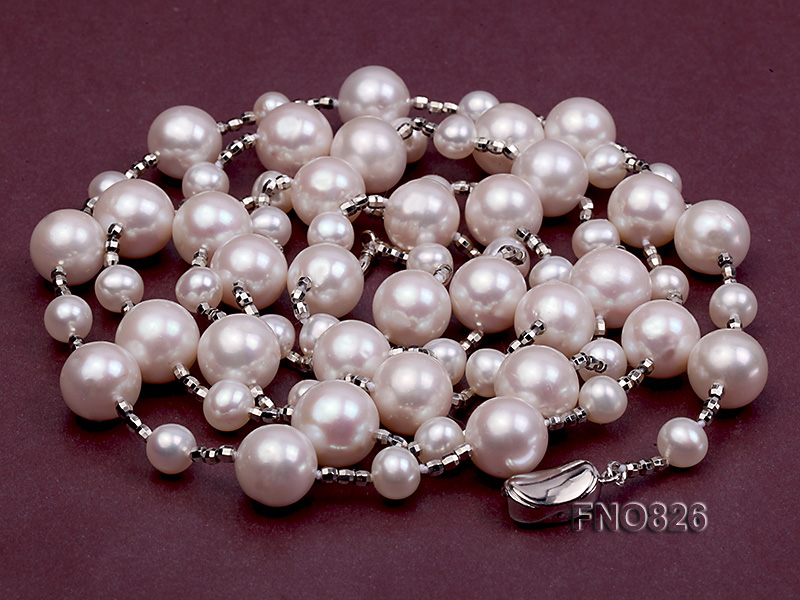 Extraordinary 46-inch White Pearl necklace big Image 1