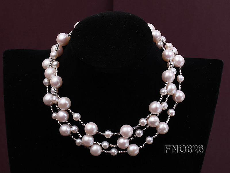 Extraordinary 46-inch White Pearl necklace big Image 4