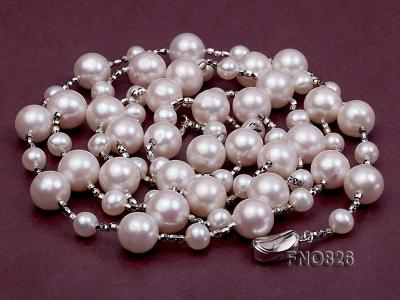 Extraordinary 46-inch White Pearl necklace FNO826 Image 1