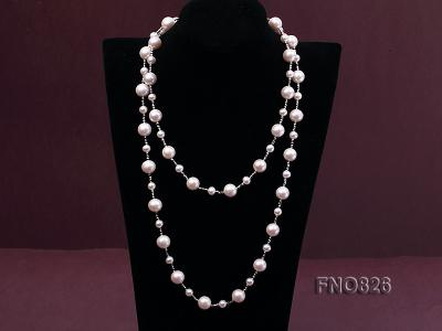 Extraordinary 46-inch White Pearl necklace FNO826 Image 3