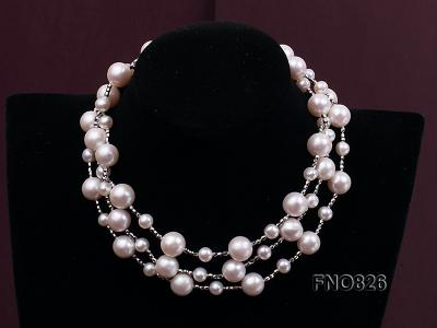 Extraordinary 46-inch White Pearl necklace FNO826 Image 4