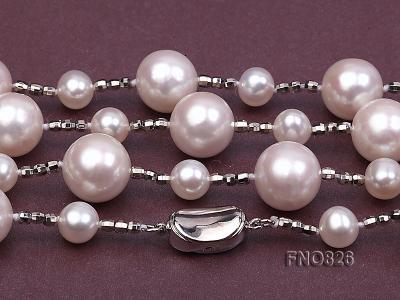 Extraordinary 46-inch White Pearl necklace FNO826 Image 5