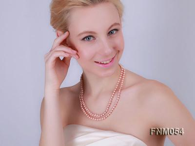 2 strand  pink freshwater pearl necklace FNM054 Image 1