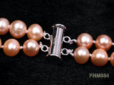 2 strand  pink freshwater pearl necklace FNM054 Image 5