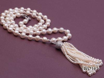 10-11mm Round White Freshwater Pearl Necklace FNO161 Image 3