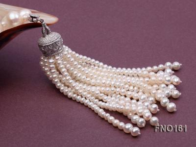 10-11mm Round White Freshwater Pearl Necklace FNO161 Image 5