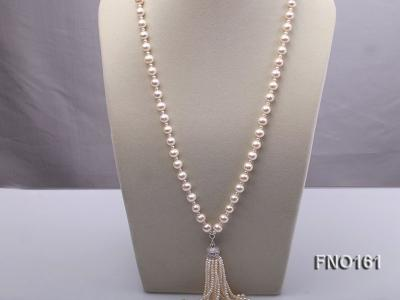 10-11mm Round White Freshwater Pearl Necklace FNO161 Image 1