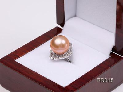 natural 13.5mm pink Edison pearl ring FR015 Image 7
