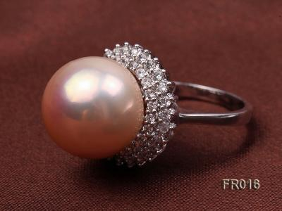 natural 15mm pink edison pearl ring FR016 Image 6