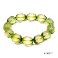 14x18mm Light-green Crystal Beads Elastic Bracelet CFB022