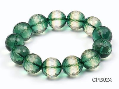 14mm Green Round Faceted Crystal Beads Elastic Bracelet CFB024 Image 5