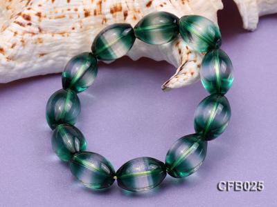 12x18mm Green Crystal Beads Elastic Bracelet CFB025 Image 3