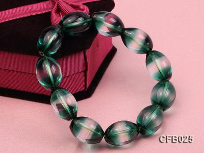 12x18mm Green Crystal Beads Elastic Bracelet CFB025 Image 4