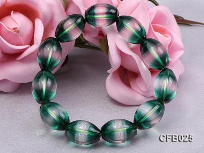12x18mm Green Crystal Beads Elastic Bracelet CFB025 Image 5