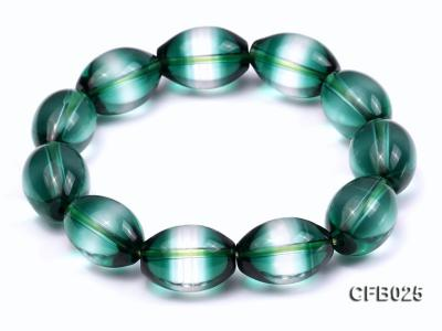 12x18mm Green Crystal Beads Elastic Bracelet CFB025 Image 6